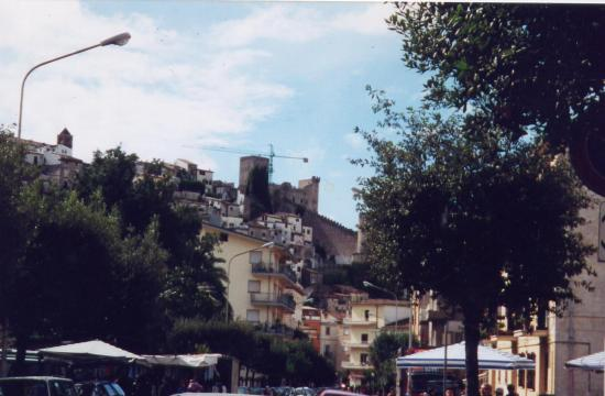 Castle View on Market Day in Itri