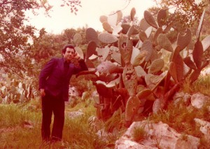 Valentino with Prickly Fig Cactus on Farm