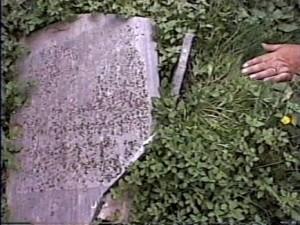 Broken Gravestone Campodimele, Italy